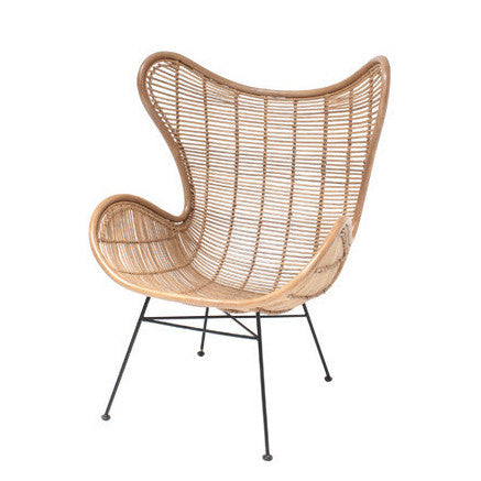 occasional chair egg in rattan by hk living cranmore home