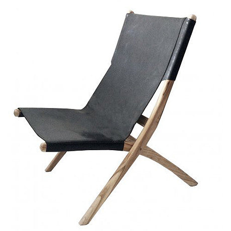 CHAIR | favela folding chair in black by MRD Home