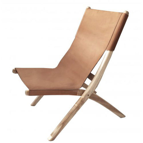 CHAIR | favela folding chair in dark tan by MRD Home