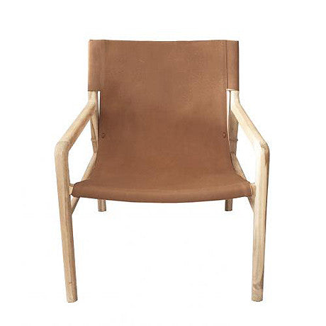OCCASIONAL CHAIR | dark tan jasper sling-back by MRD Home