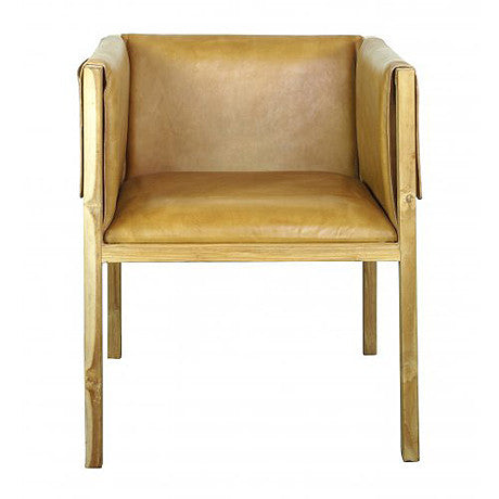 OCCASIONAL CHAIR | pocket design in caramel by MRD Home