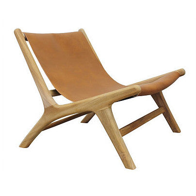 ARMCHAIR | serengeti in tan leather by Uniqwa
