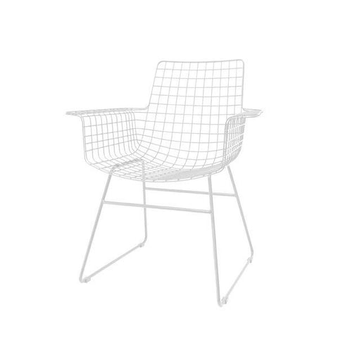 CHAIR | wire wing dining chair in white by hk living
