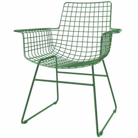 CHAIR | wire wing dining chair in emerald by hk living