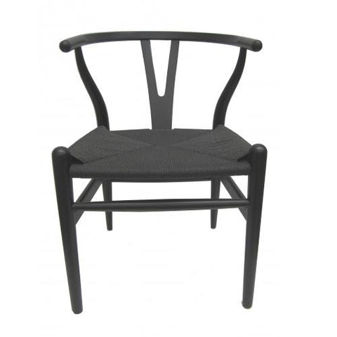 DINING CHAIR | wishbone dining in black by MRD Home