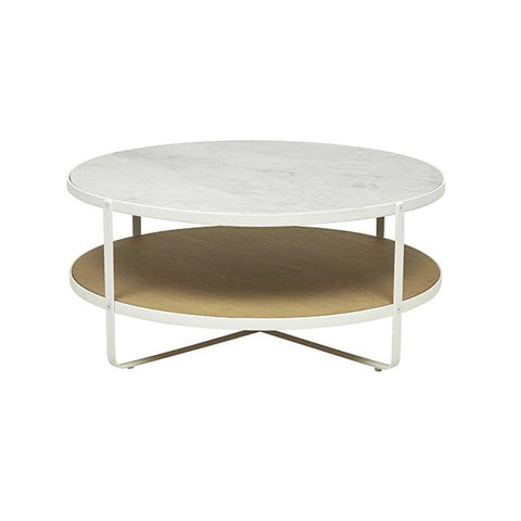COFFEE TABLE | sketch oxygen in white marble by globewest