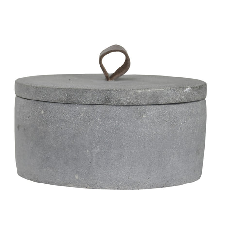 VESSEL | natural concrete jar with lid by zakkia
