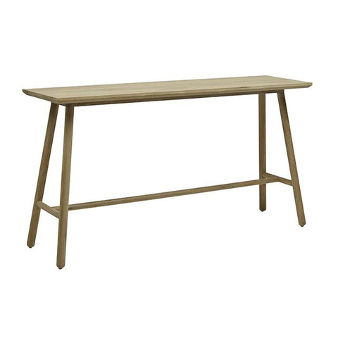CONSOLE | natural oak linea tri-console by globewest