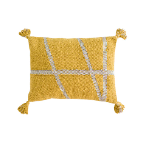 CUSHION | little bling in mustard + silver by OHH