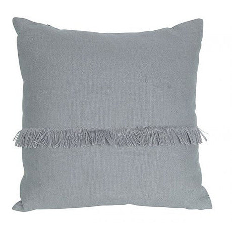 CUSHION | annika fringed design in grey by mrd home