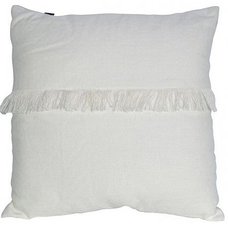 CUSHION | annika fringed design in marshmallow by mrd home