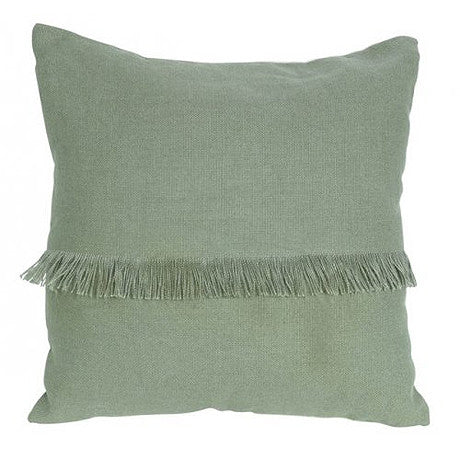 CUSHION | annika fringed design in moss by mrd home