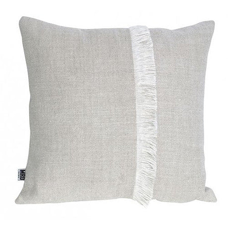 CUSHION | annika fringed design in natural by mrd home