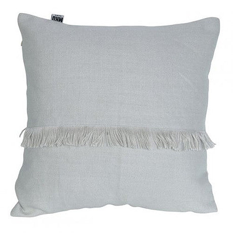 CUSHION | annika fringed design in pale grey by mrd home
