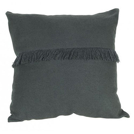 CUSHION | annika fringed design in pavement by mrd home