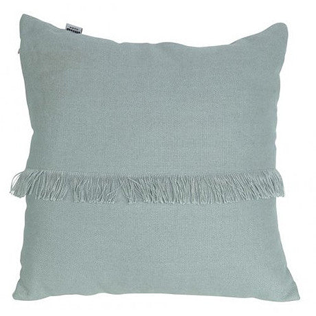 CUSHION | annika fringed design in seafoam by mrd home