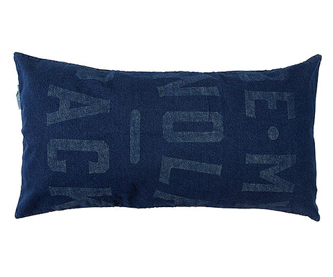 CUSHION | 'be my wolf pack' design in denim by pony rider