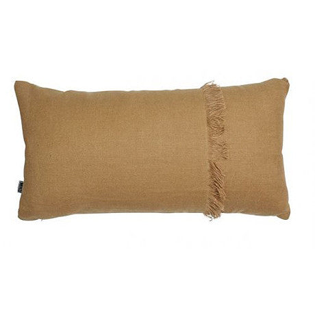 CUSHION | annika fringed rectangle in cork by mrd home