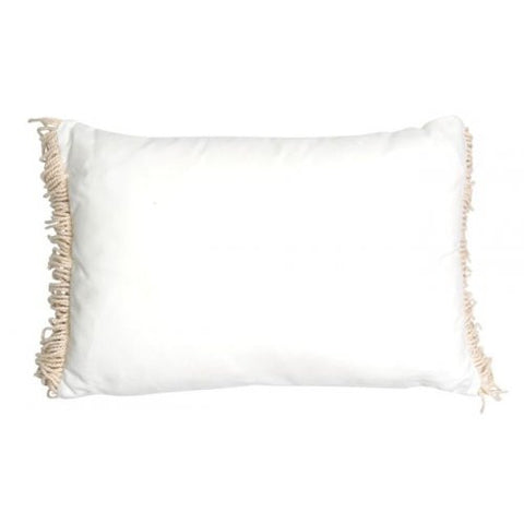 CUSHION | ines fringe design in marshmallow by mrd home