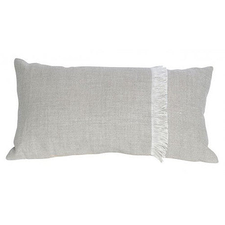CUSHION | annika fringed rectangle in natural by mrd home