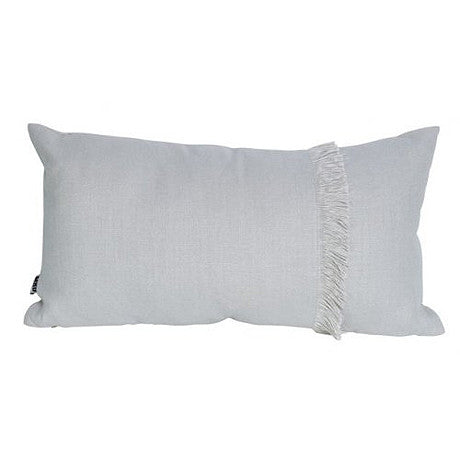 CUSHION | annika fringed rectangle in pale grey by mrd home