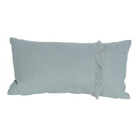 CUSHION | annika fringed rectangle in seafoam by mrd home