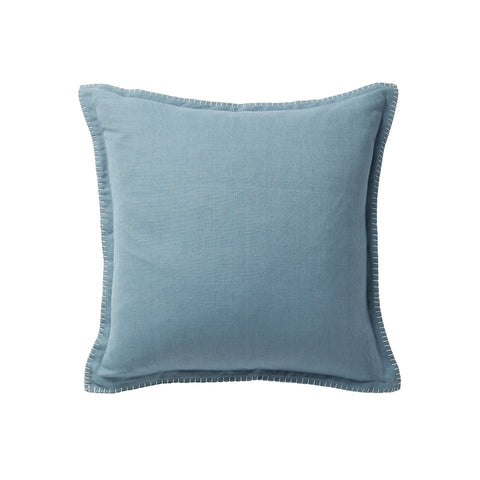 CUSHION | steel blue with blanket stitch by milk + sugar
