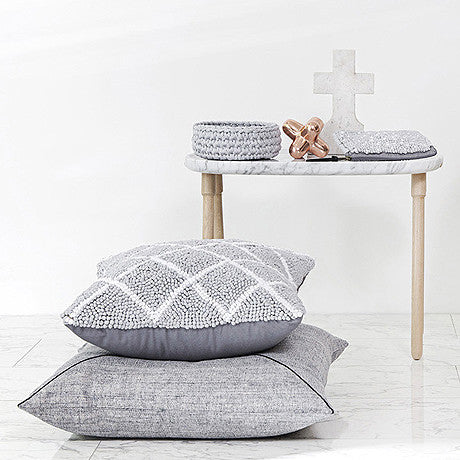 CUSHION | quilted in grey check by one another design