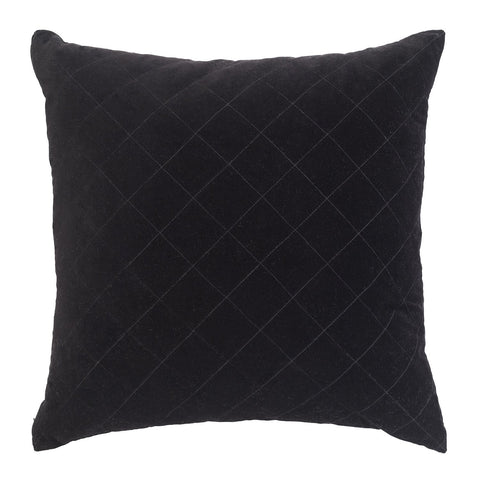 CUSHION | quilted velvet design in black by L+M Home