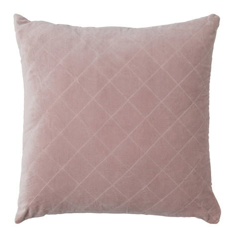 CUSHION | quilted velvet design in blush by L+M Home