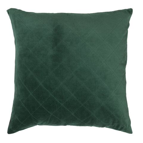 CUSHION | quilted velvet design in emerald by L+M Home