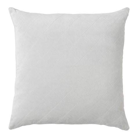 CUSHION | quilted velvet design in silver by L+M Home