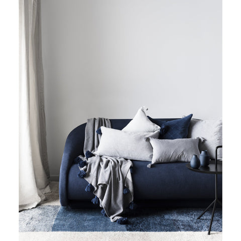 CUSHION | quilted velvet design in indigo by L+M Home