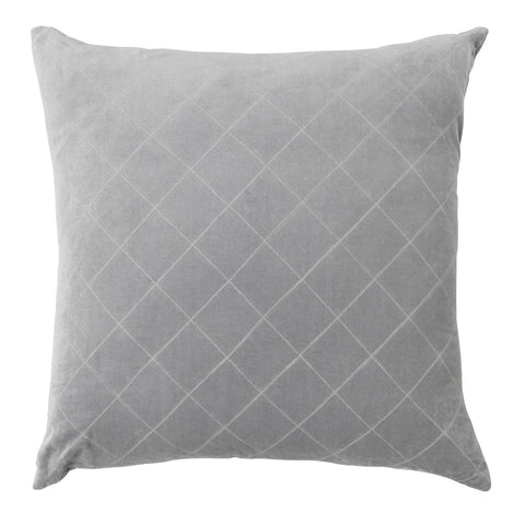 CUSHION | quilted velvet design in smoke by L+M Home