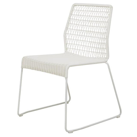 DINING CHAIR | granada twist design in white by globewest