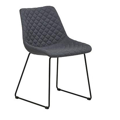DINING CHAIR | henri design in gunmetal by globewest