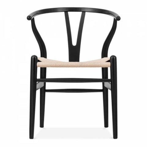 DINING CHAIR | wishbone dining in black + natural by MRD Home