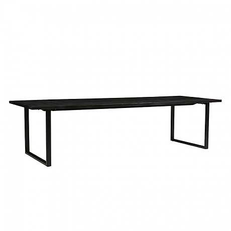 DINING TABLE | linea sleigh design in black by globewest
