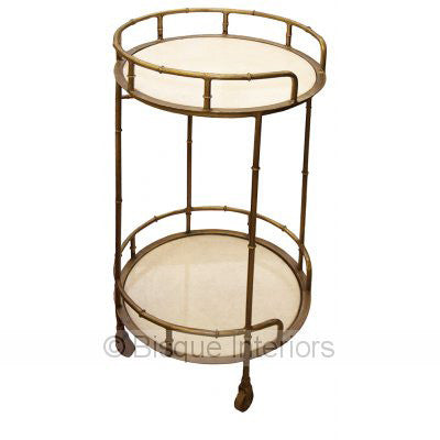 DRINKS TROLLEY | round brass design by bisque interiors