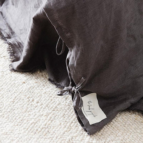 DUVET SET | charcoal linen by the beach people