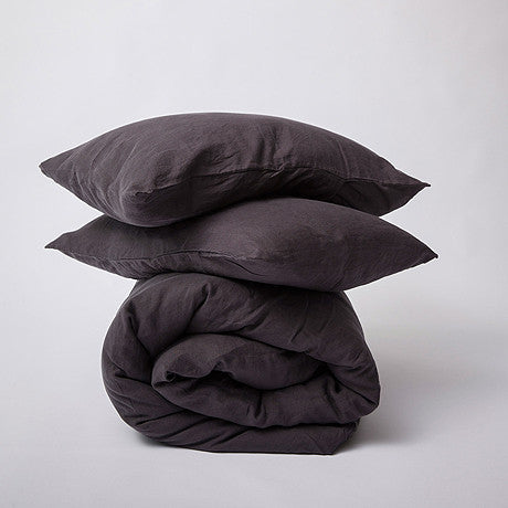 DUVET SET | black linen by cultiver