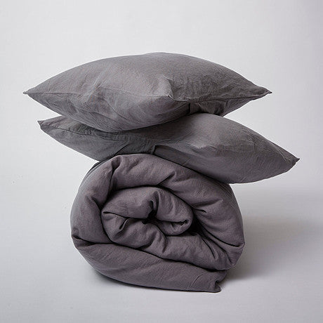 DUVET SET | charcoal linen by cultiver