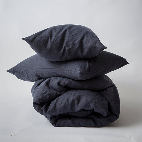 DUVET SET | navy linen by cultiver