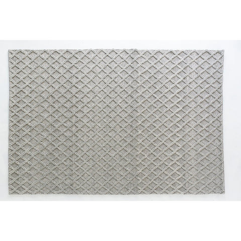 FLOOR RUG | honeycomb diamond weave in grey by OHH