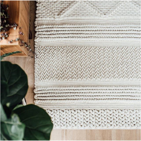 FLOOR RUG | jasper weave in cream by OHH