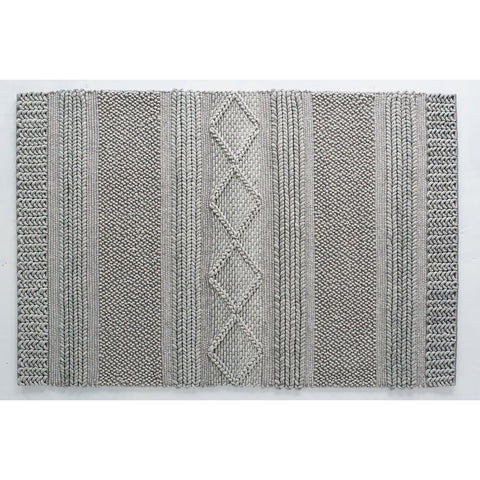 FLOOR RUG | jasper weave in grey by OHH