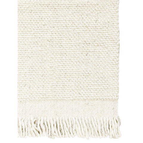 FLOOR RUG | skagen 'fringe' weave in ivory by tribe home