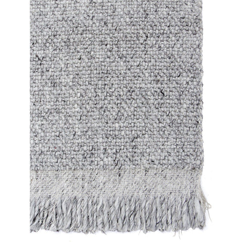 FLOOR RUG | skagen 'fringe' weave in silver by tribe home