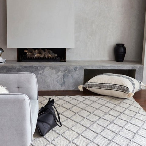 FLOOR RUG | cesar weave in grey + ivory by tribe home