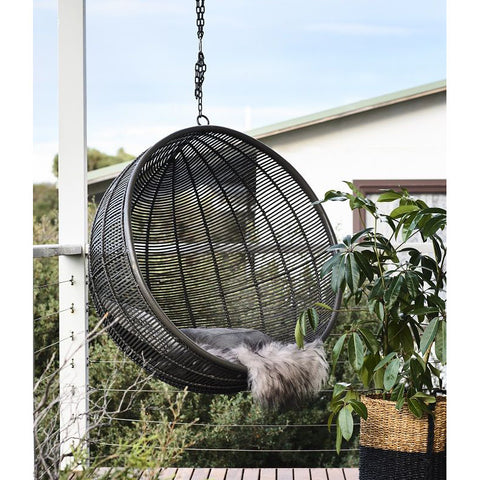 HANGING CHAIR | charcoal 'pod' design by hk living